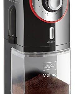 Melitta-1019-01-Molino-Moulin--Caf-Electrique-et-Meule-Professionnelle-Plate-Amovible-17-Rglages-Noir-0