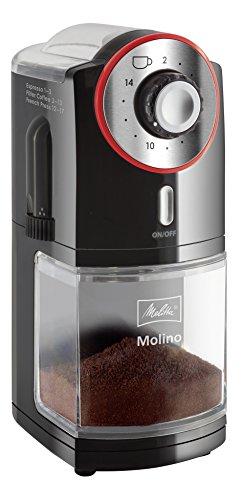 Melitta-1019-01-Molino-Moulin–Caf-Electrique-et-Meule-Professionnelle-Plate-Amovible-17-Rglages-Noir-0