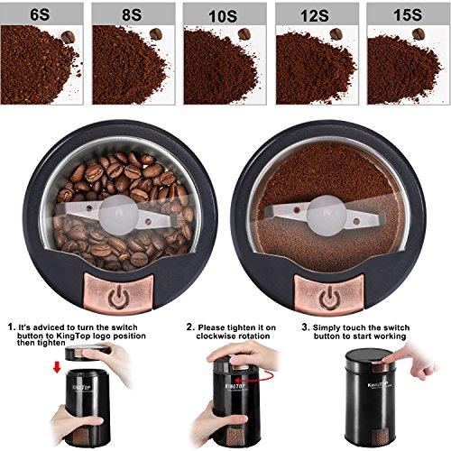 Achat moulin caf lectrique kingtop 200w broyeur graines de lin s same - Meilleur moulin a cafe ...