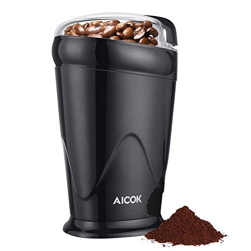 Aicok-Moulin–Caf-lectrique-Max-65g-Pour-Grains-de-Lin-Noix-Poivre-pices-et-Semences-de-Caf-Avec-Broyeur–Lame-en-Acier-Inoxydable-150W-Noir-0