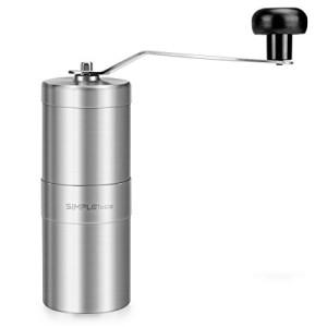 SimpleTaste-Moulin--Caf-Manuel-en-Acier-Inoxydable-et-Cramique-Broyage-Manuel-avec-Vis-dAjustement-dEpaisseur-0