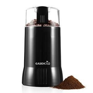 Easehold-Moulin--caf-lectrique-200W-capacit-de-75g-Pour-Grains-de-Lin-Noix-Poivre-pices-et-Semences-de-Caf-Avec-Broyeur--Lame-en-Acier-Inoxydable-Noir-0
