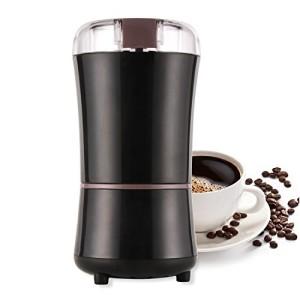 Moulin--caf-lectrique-300-W-grains-de-caf-noix-pices-Crales-Petite-kaffeemuehle-avec-une-cuillre-en-acier-inoxydable-Noir-0