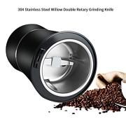Moulin--caf-pices-et-graines-haricots-Machine-lectrique-de-grain-de-caf-de-meulage-Lames-en-acier-inoxydable-avec-protection-anti-usure-noir-0-0