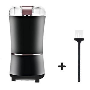 Moulin--caf-pices-et-graines-haricots-Machine-lectrique-de-grain-de-caf-de-meulage-Lames-en-acier-inoxydable-avec-protection-anti-usure-noir-0
