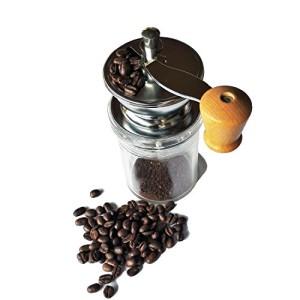VeoHome--Moulin--Caf-Bnoa--Moulin--caf-manuel-de-grande-capacit-avec-Broyeur-en-cramique-Garanti--Vie-Finesse-de-grain-Rglable--Design-moderne-et-fonctionnel-0