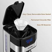 Aicook-Machine--caf-Machine--caf--Filtre--cran-Tactile-cafetire-Goutte--Goutte-programmable-12-Tasses-cran-avec-Horloge-rservoir-deau-DE-51-onces-et-pichet-en-Verre-DE-15-Litre-Noir-0-0