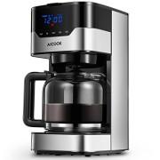 Aicook-Machine--caf-Machine--caf--Filtre--cran-Tactile-cafetire-Goutte--Goutte-programmable-12-Tasses-cran-avec-Horloge-rservoir-deau-DE-51-onces-et-pichet-en-Verre-DE-15-Litre-Noir-0