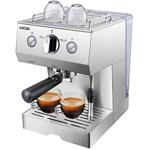 Cafetire-Expresso-Aicok-Cafetire-Electrique-Italienne-Manuelle-avec-Pompe--15-Bars-en-Acier-Idal-pour-Caf-Mousse-Cappuccino-et-Moka-0