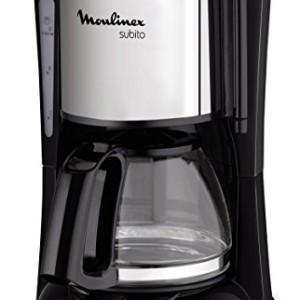 Moulinex-FG150813-Cafetire-Filtre-Subito-Mini-Capacit-6-Tasses-Verseuse-Verre-Anti-Goutte-Maintien-au-Chaud-Caf-Noir-Inox-0