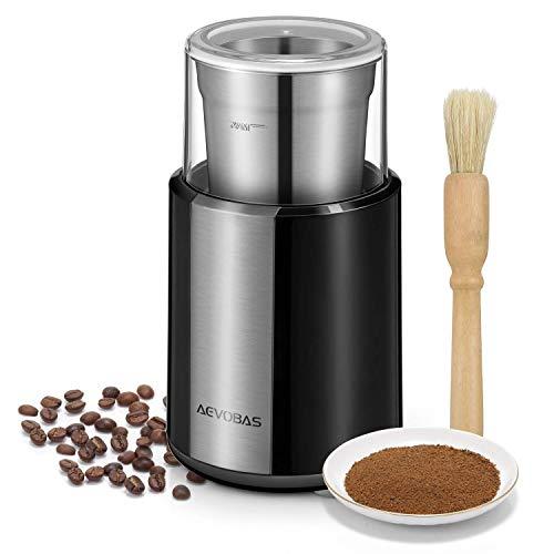 AEVOBAS-Moulin–caf-lectrique-Broyeur-de-Grains-de-Caf-avec-gobelet-Amovible-en-Acier-Inoxydable-et-Brosse-de-Nettoyage-pour-Broyeur–pices-graines-crales-Herbes-Fruits-200W-0