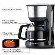 Aigostar-Chocolate-30HIK--Cafetire--filtre-1000-watts-capacit-de-125-litres-sans-BPA-filtre-permanent-lavable-et-fonction-maintenir-au-chaud-Couleur-noir-Design-exclusif-0-0