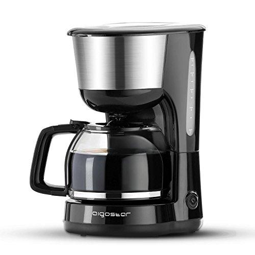 Aigostar-Chocolate-30HIK–Cafetire–filtre-1000-watts-capacit-de-125-litres-sans-BPA-filtre-permanent-lavable-et-fonction-maintenir-au-chaud-Couleur-noir-Design-exclusif-0