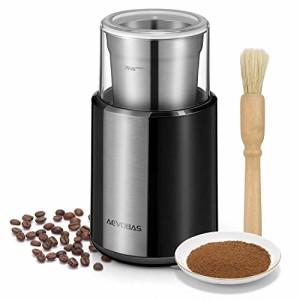 AEVOBAS-Moulin--caf-lectrique-Broyeur-de-Grains-de-Caf-avec-gobelet-Amovible-en-Acier-Inoxydable-et-Brosse-de-Nettoyage-pour-Broyeur--pices-graines-crales-Herbes-Fruits-200W-0