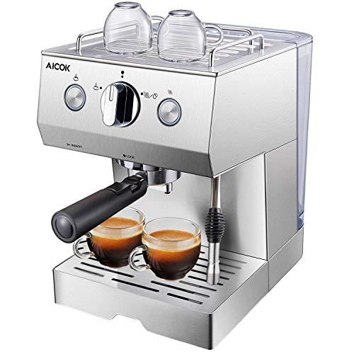 Aicok-Cafetire-Expresso-Machines–Caf-Expresso-professionnelle-1140W-avec-Pompe-20-bar-15-L-Amovible-Rservoir-Deau-Fonction-de-Chauffage-Acier-inoxydable-0