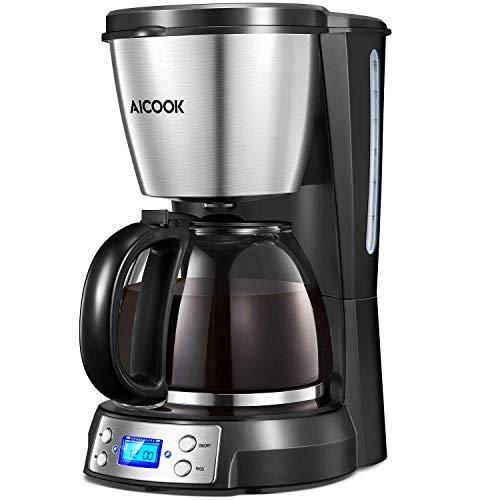 Aicook-Cafetire–Filtre-Cafetire-Electriques-Programmable–12-Tasse-Machine–Caf-avec-LCD-cran-Isolation-et-Filtre–Caf-Permanent-Anti-Gouttes-Arrt-Automatique-900W-0