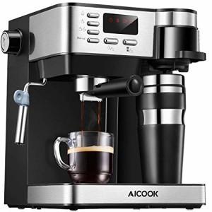 Aicook-Machine--Caf-Espresso-15-Bar-Cafetiere-Expresso-3-en-1-avec-Mousseur--Lait-Machine--Expresso-Machine--Cappuccino-Cafetire--Filtre-Tasse-Thermos-en-Cadeau-Noir-0
