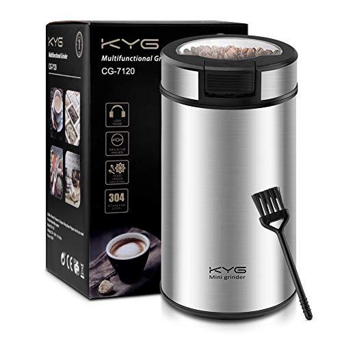 KYG-Moulin–Caf-lectrique-Broyeur–Caf-pour-Graines-de-Lin-Semences-de-Caf-Noix-Poivre-pices-et-Autres-avec-Lames-en-Acier-Inoxydable-200W-60g-0