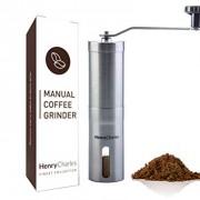 Moulin--Caf-Manuel-La-Collection-Elegance-Henry-Charles-En-Acier-Bross-Inoxydable-avec-Meule-Ajustable-en-Cramique-Taille-compacte-parfaite-pour-la-maison-le-bureau-ou-en-voyage-0