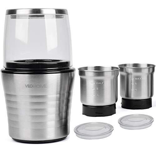 Moulin–caf-et-mixeur-lectrique-VeoHome-broyeur-pour-grains-de-caf-graine-de-lin-et-autres-pices-inox-0