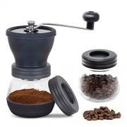 TAYLE-Moulin--Caf-Manuel-Classique-Premium-Rglable-Cramique-Moulin--Caf--Main-Moulin--Caf--la-Main-Contient-Deux-Bocaux-en-Verre-pour-Mouture-de-Caf-Stockage-de-Caf-en-Poudre-0