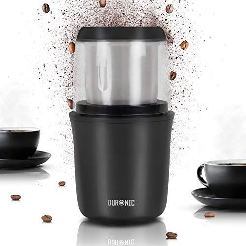 Duronic-CG250-Moulin–caf-lectrique-de-250W-75g-Broyeur–picesgrainescralesherbesfruits–coques-avec-lames-en-inox-Meule-en-inox-de-75-g-de-capacit-0