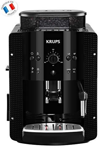 KRUPS-ESSENTIAL-NOIRE-Machine–caf–grain-Machine–caf-broyeur-grain-Cafetire-expresso-2-tasses-Nettoyage-automatique-Buse-vapeur-Cappuccino-YY8125FD-0