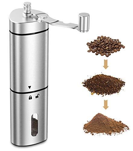 Babacom-Moulin–Caf-Manuel-Moulin–Grain-de-Caf-Portable-avec-Rglage-Ajustable-Broyeur–Caf-en-Acier-Inoxydable–Bavure-Conique-en-Cramique-pour-Espresso-Presse-Franaise-Brassage-Turc-0