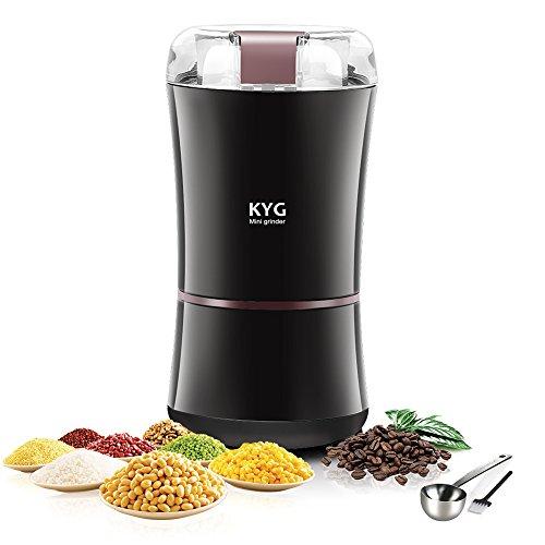 KYG-Moulin–Caf-lectrique-300W-Broyeur–Graines-de-Lin-Noix-Poivre-pices-Semences-de-Caf-et-Autres-avec-Lames-en-Acier-Inoxydable-0
