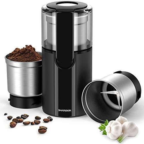 SHARDOR-Moulin–Caf-lectrique-2-en-1-Bols-Amovibles-Broyeur-Multifonctionnel-Grande-Rotation-Acier-Inoxytable-Mixeur-Caf-pices-Graines-de-Lin-Herbes-Fruits-Secs-Qualit-Alimentaire-200W-0