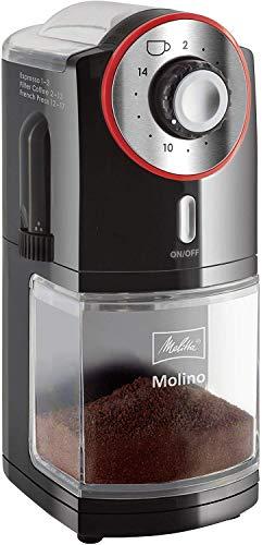 Melitta-Moulin–Caf-lectrique-Molino-Meule-Plate-NoirRouge-1019-01-0