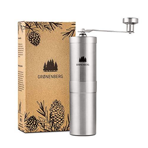 Groenenberg-Moulin–caf-manuel-rglable-Coffee-Grinder-en-Acier-Inoxydable-inox-Moulin-manuel-caf-Broyeur-en-Cramique-Portable-et-emballe-sans-plastique-0