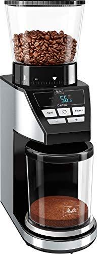 Melitta-Calibra-Noir-Inox-1027-01-Moulin–Caf-lectrique-avec-Balance-Intgre-Broyeur-Conique-Rservoir–Grains-XL-0