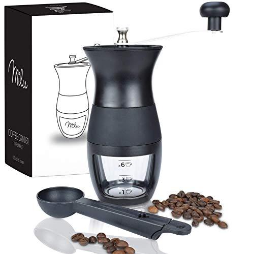 Milu-Moulin–Caf-Manuel-en-Acier-Bross-Inoxydable-avec-Meule-Ajustable-en-CramiqueBroyeur-en-Taille-Compacte-Parfaite-pour-la-Maison-Le-Bureau-ou-en-Voyage-avec-cuillre-et-Brosse-0