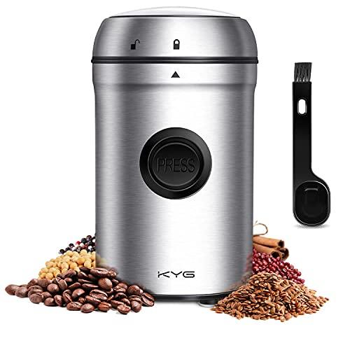 KYG-Moulin–Caf-lectrique-200W-80g-Broyeur-55-db–Double-Lames-en-Acier-Inoxydable-pour-Noix-Poivre-pices-Semences-de-Caf-Cble-rglable-Couvercle-Verrouill-et-Brosse-de-Nettoyage-0