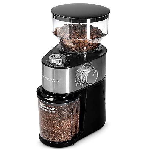 Navaris-Moulin–caf-lectrique-Broyeur-de-caf-avec-meule-Plate-pour-2–14-Tasses-Grinder-avec-diffrentes-paisseurs-de-mouture-0