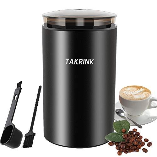TAKRINK-Moulin–Caf-Moulin–pices-lectrique-200W-Moulin–Grains-Portable-avec-Lames-en-Acier-Inoxydable-Capacit-de-50g-pour-Caf-Th-Assaisonnement-Grain-etc-0